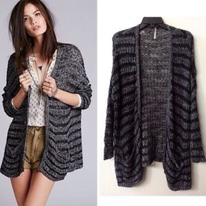 Free People Last Night Striped Cardigan